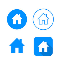 Home icon four variants classic symbol icon in vector