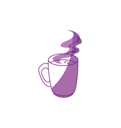 Hot coffee icon vector