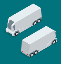 isometric an unmanned truck on the remote control vector image