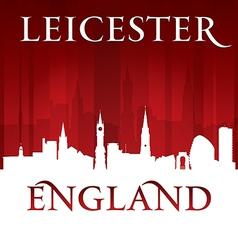 Leicester England city skyline silhouette vector image