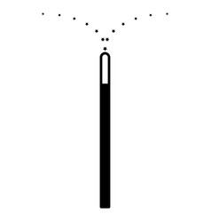Magic wand the black color icon vector