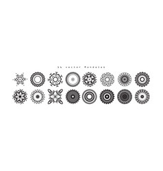 mandala vintage decorative elements vector image