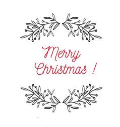 merry christmas emblem symbol frame vector image