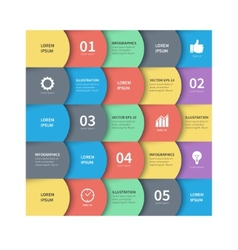 Modern abstract squares Business infographics vector image