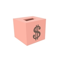 Money box donation cartoon icon vector