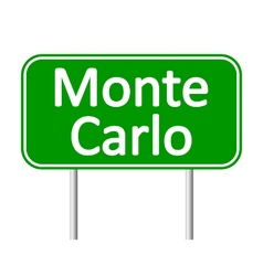 Monte-Carlo road sign vector