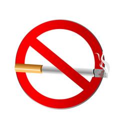 no smoking symbol icon vector image