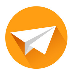 paper airplane icon on white stock vector image