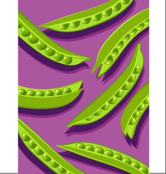 peas on purple vector image