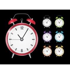Realistic Clock Alarm Watch Set vector image