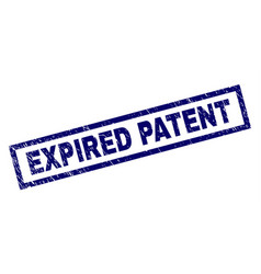 Rectangle scratched expired patent stamp vector