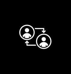 Retraining icon business concept flat design vector