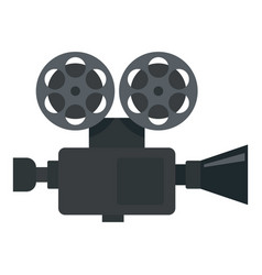 retro film video camera icon flat style vector image