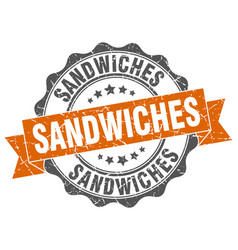 Sandwiches stamp sign seal vector