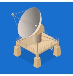 Satellite Dish Isometric View vector