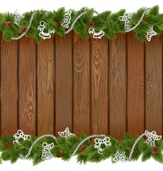 Seamless Christmas Board with White Decorations vector