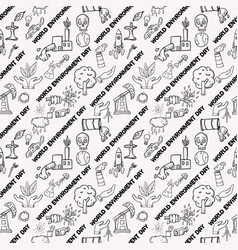 Seamless pattern contour of elements for design vector