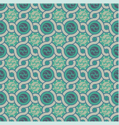 Seamless pattern in green vector