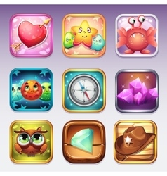 set icons for app store and google play vector image