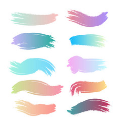set of colorful lines drawn with a brush vector image