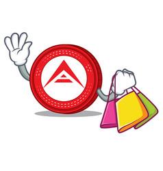 Shopping ark coin character cartoon vector