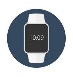 smart watch isolated on white logo stainless vector image