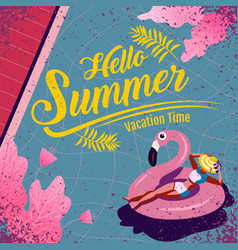 summer layout template design holiday vector image