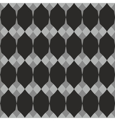 Tile black white and grey pattern vector image