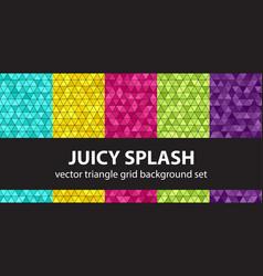 triangle pattern set juicy splash seamless vector image
