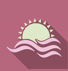 Tropical sunset vintage beach print graphic design vector