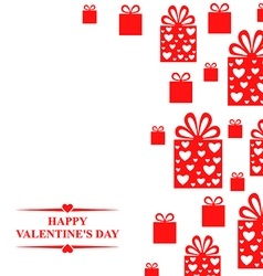 valentine gift red vector image