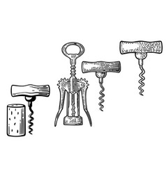 Wing corkscrew basic corkscrew and cork vector