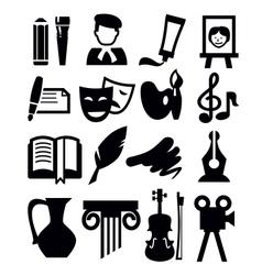 arts icon vector image vector image