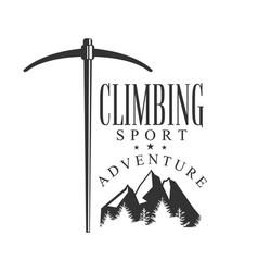 climbing sport adventure mountain hiking vector image