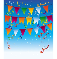 holiday background with bright flags vector image vector image