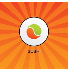 sushi concept card vector image