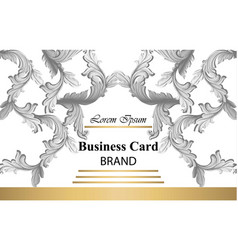 business card with luxurious damsk ornament vector image vector image