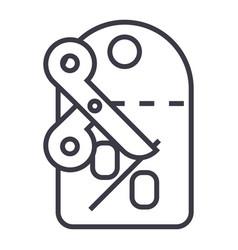 discountslabelscissors line icon sign vector image