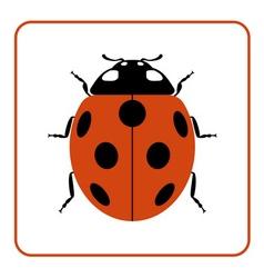 Ladybug red cartoon icon realistic vector image vector image