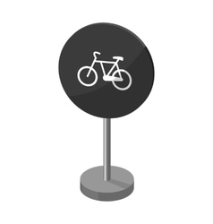 Mandatory road signs icon in monochrome style vector