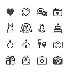 Wedding Icons and Love Icons vector image