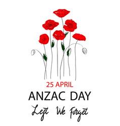anzac day concept vector image