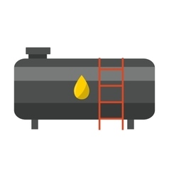 Big industrial oil tanks vector image