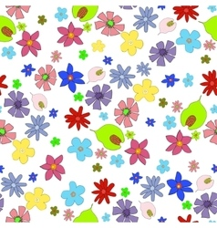flowers-seamless vector image vector image