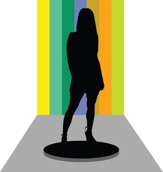 girl on stage vector image