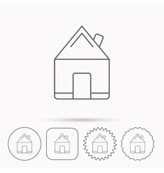 Real estate icon House building sign vector image