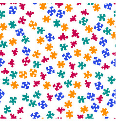 seamless color puzzles background vector image