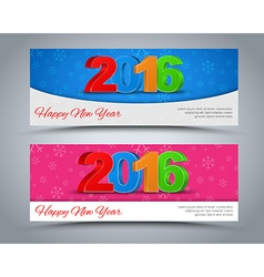 A set of banners Happy New Year 2016 vector image vector image