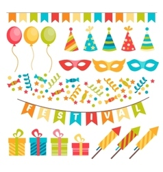 Colorful decoration for party vector image vector image