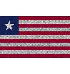 Flags Liberia on denim texture vector image vector image